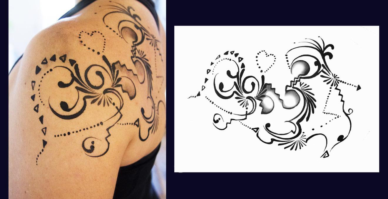 Creation De Tatouage Ax Elle